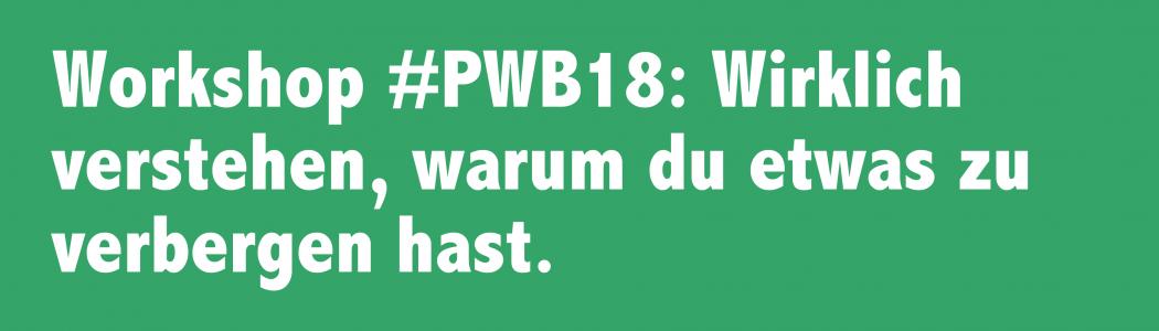 5 Jahre nach Snowden – Workshop #PWB18: Wirklich verstehen, warum du etwas zu verbergen hast.